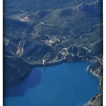 Vistas pantano de Santa Anna desde el Parapente